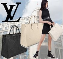 Louis Vuitton Monogram Casual Style A4 2WAY Leather Office Style
