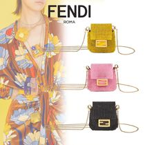 FENDI BAGUETTE Casual Style Party Style With Jewels Elegant Style