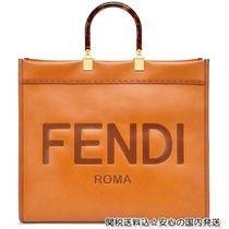 FENDI A4 Leather Elegant Style Handbags