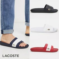 LACOSTE Street Style Plain Shower Shoes Logo Shower Sandals