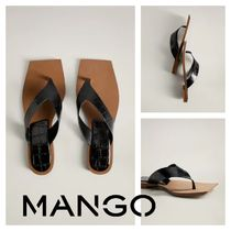 MANGO Square Toe Rubber Sole Casual Style Other Animal Patterns