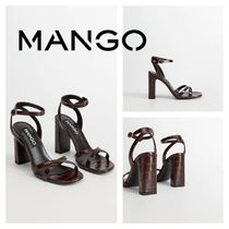 MANGO Other Animal Patterns Block Heels Heeled Sandals