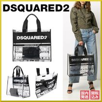 D SQUARED2 Casual Style Unisex Blended Fabrics A4 Leather PVC Clothing