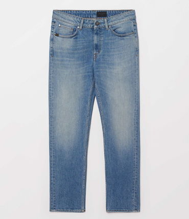 Denim Plain Cotton Long Jeans