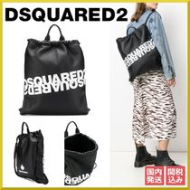 D SQUARED2 Casual Style Unisex Leather Backpacks