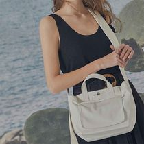 BBYB Casual Style Canvas Street Style 3WAY Plain Party Style