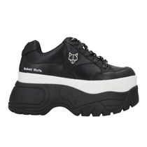 Naked Wolfe Platform Round Toe Rubber Sole Casual Style Street Style