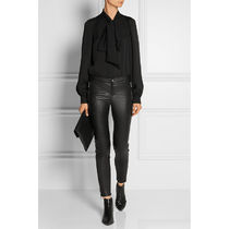 GUCCI Casual Style Leather Long Party Style Office Style