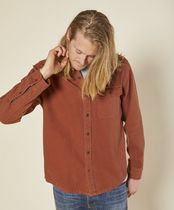 Outer known Long Sleeves Plain Cotton Handmade Logo Surf Style Shirts