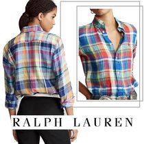 Ralph Lauren Other Check Patterns Casual Style Linen Street Style