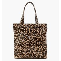 J Crew Leopard Patterns Casual Style Canvas A4 Elegant Style Totes