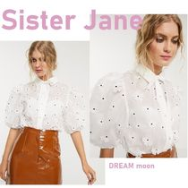 Sister Jane Flower Patterns Dots Puffed Sleeves Long Sleeves Party Style