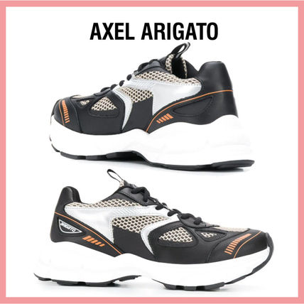Casual Style Leather Logo Low-Top Sneakers