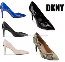 DKNY Casual Style Plain Other Animal Patterns Pin Heels