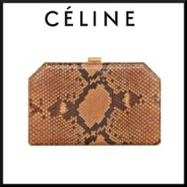 CELINE Casual Style 2WAY Chain Leather Party Style Python