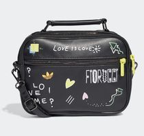 adidas Casual Style Street Style Leather Backpacks