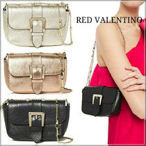 RED VALENTINO Casual Style Blended Fabrics Chain Plain Leather Party Style
