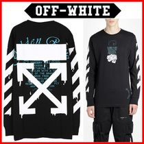 Off-White Street Style Long Sleeves Cotton Long Sleeve T-shirt Logo