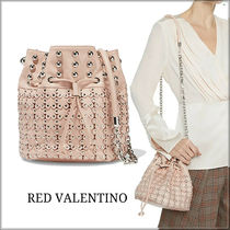 RED VALENTINO Casual Style Blended Fabrics Studded Chain Leather