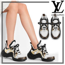 Louis Vuitton Monogram Platform Rubber Sole Lace-up Logo