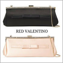 RED VALENTINO Blended Fabrics Chain Plain Party Style Elegant Style