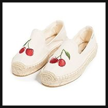 SOLUDOS Round Toe Rubber Sole Casual Style Plain Flats
