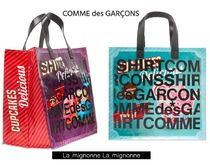 COMME des GARCONS Casual Style Street Style Logo Totes