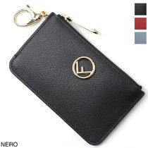 FENDI Plain Leather Logo Keychains & Bag Charms