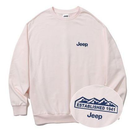 JEEP Sweatshirts Crew Neck Unisex Street Style Long Sleeves Plain Cotton Logo 6
