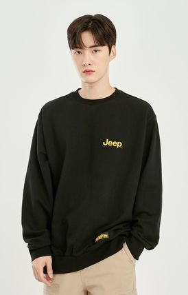 JEEP Sweatshirts Crew Neck Unisex Street Style Long Sleeves Plain Cotton Logo 11