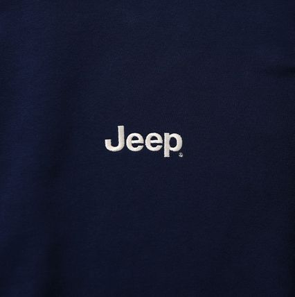 JEEP Sweatshirts Crew Neck Unisex Street Style Long Sleeves Plain Cotton Logo 16
