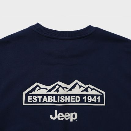 JEEP Sweatshirts Crew Neck Unisex Street Style Long Sleeves Plain Cotton Logo 18