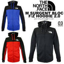 THE NORTH FACE Unisex Street Style Bi-color Long Sleeves Hoodies