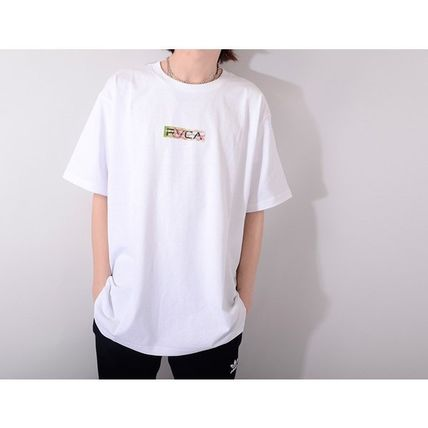 RVCA More T-Shirts Unisex Street Style Cotton Short Sleeves Logo T-Shirts 2
