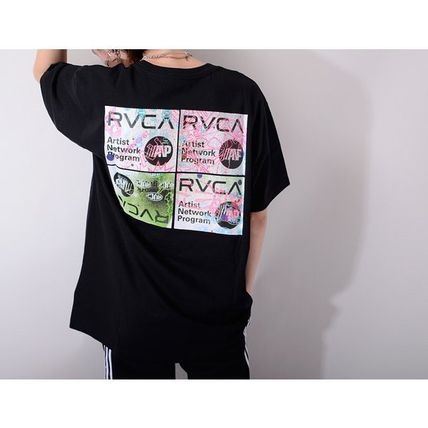 RVCA More T-Shirts Unisex Street Style Cotton Short Sleeves Logo T-Shirts 5