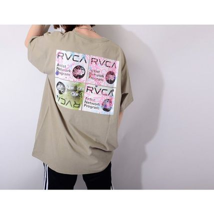RVCA More T-Shirts Unisex Street Style Cotton Short Sleeves Logo T-Shirts 7