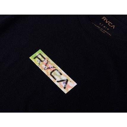 RVCA More T-Shirts Unisex Street Style Cotton Short Sleeves Logo T-Shirts 9