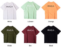 RVCA Unisex Street Style Cotton Short Sleeves Logo T-Shirts