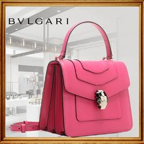 Bvlgari Casual Style 2WAY Plain Leather Party Style Office Style
