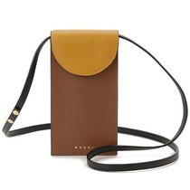 MARNI Casual Style Saffiano Bi-color Plain Crossbody Shoulder Bags