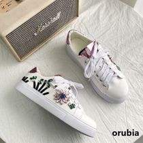 Flower Patterns Platform Round Toe Casual Style Faux Fur
