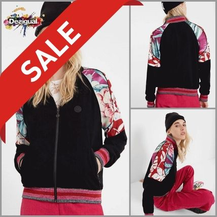 Flower Patterns Casual Style Medium Jackets
