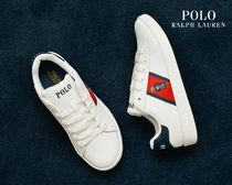 POLO RALPH LAUREN Leather Logo Low-Top Sneakers
