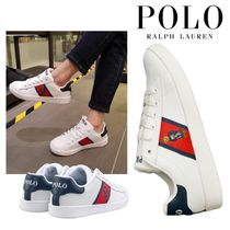 POLO RALPH LAUREN Leather Low-Top Sneakers