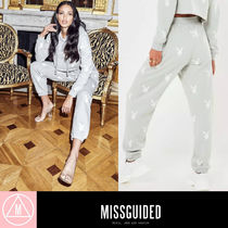 Missguided Casual Style Unisex Sweat Street Style Collaboration