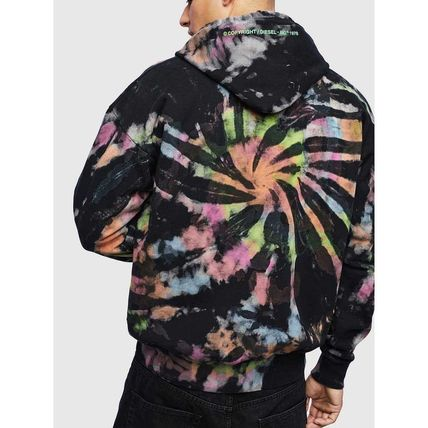 DIESEL Pullovers Unisex Street Style Tie-dye Long Sleeves Cotton