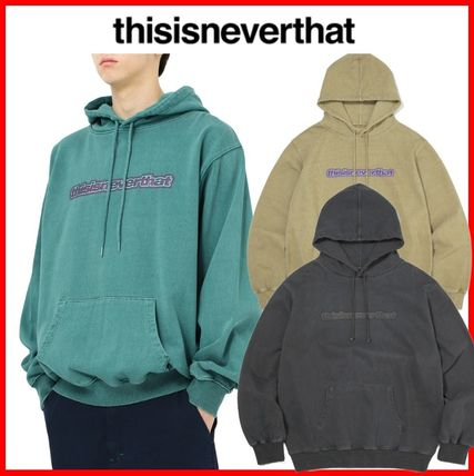 thisisneverthat Hoodies Street Style Long Sleeves Cotton Hoodies