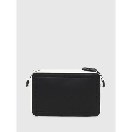 DIESEL Crossbody Blended Fabrics Bi-color Plain Leather
