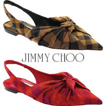 Jimmy Choo Other Plaid Patterns Casual Style Elegant Style Mules
