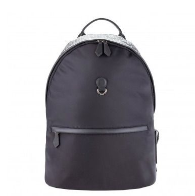 Monogram Unisex Blended Fabrics A4 Logo Backpacks